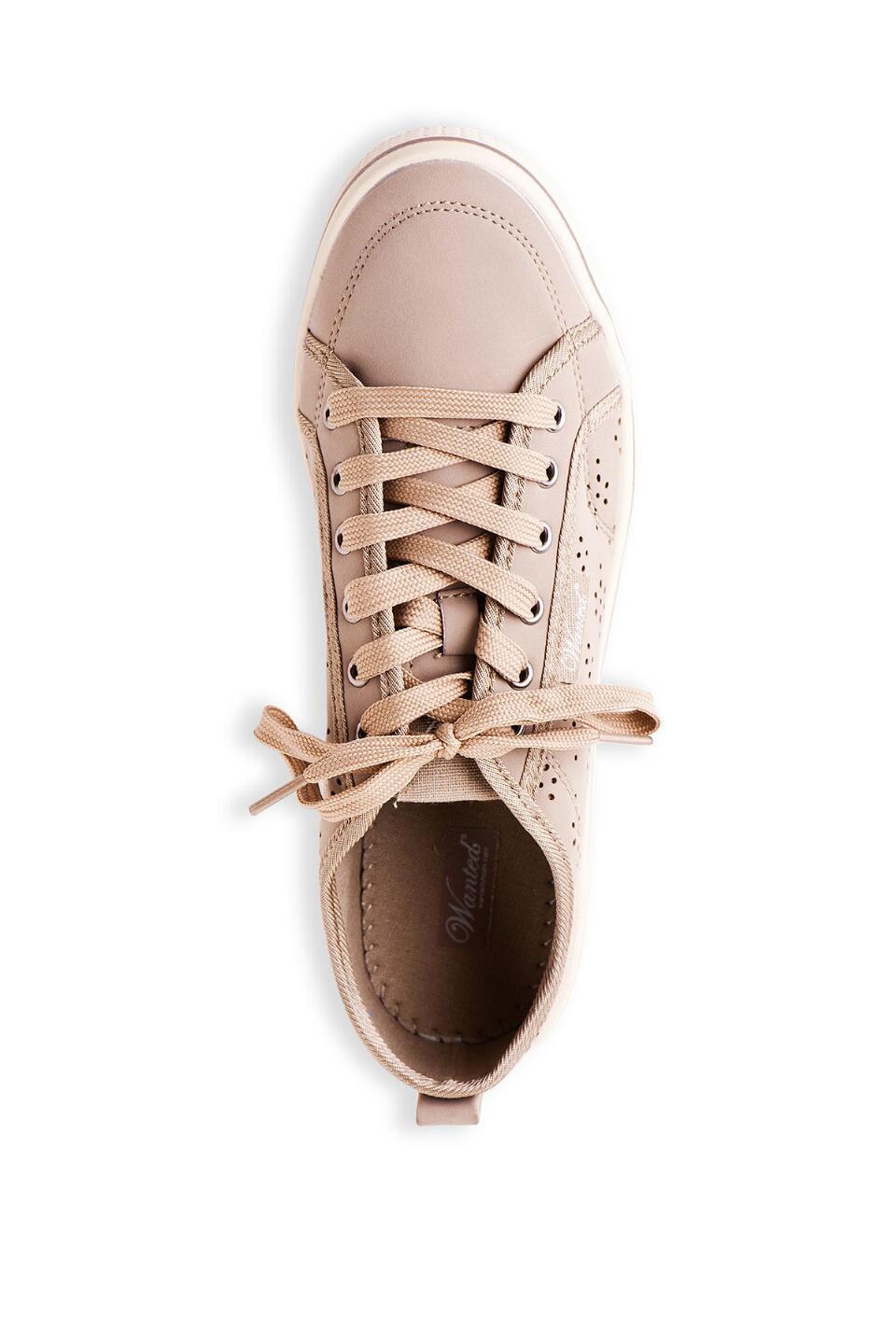 Slope Lace Up Sneaker in Taupe-  nat-cltop