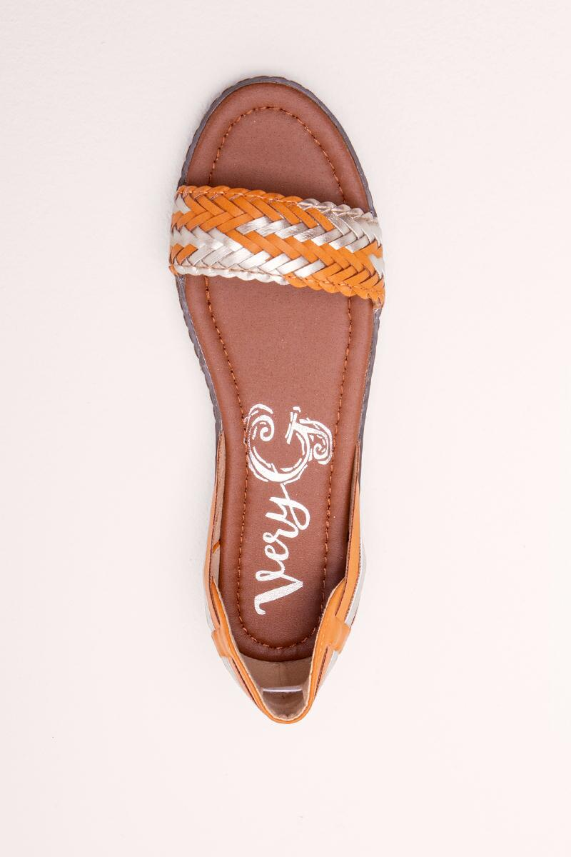 Very G Braided Sandal- Tan 6