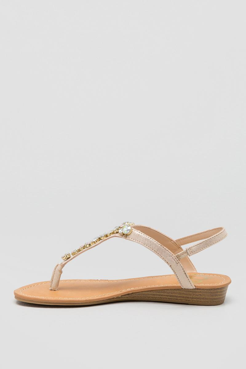 Fergalicious, Tasso Bejeweled T-Strap-  gold-clleft