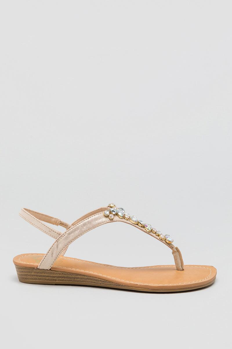 Fergalicious, Tasso Bejeweled T-Strap-  gold-clright