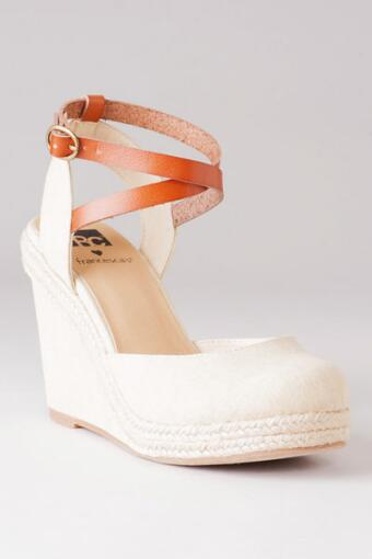 BC Loves Fran Shoes, Tee Canvas Wedge