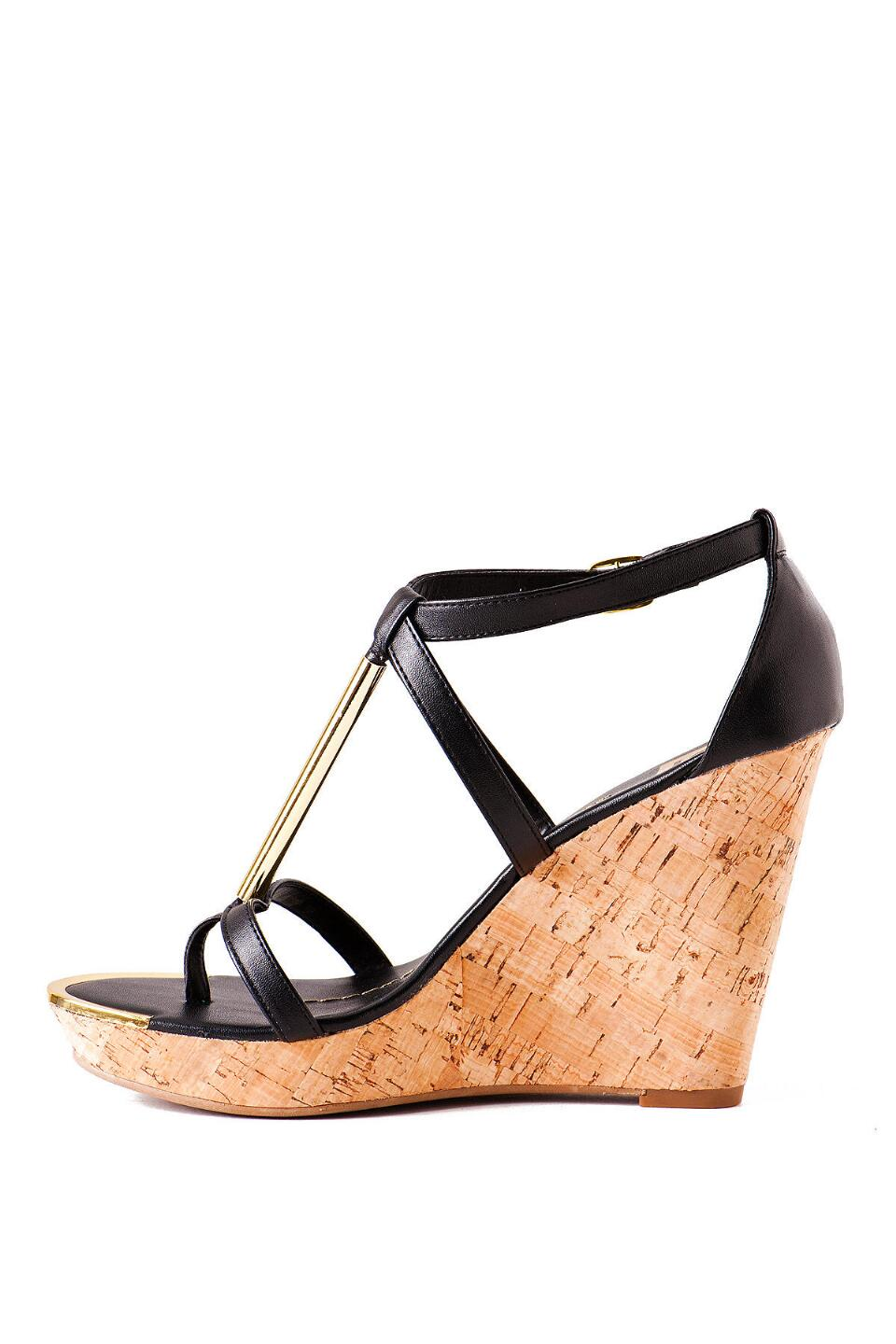 DV by Dolce Vita Shoes, Tremor Cork Wedge in Black-  blk-clleft