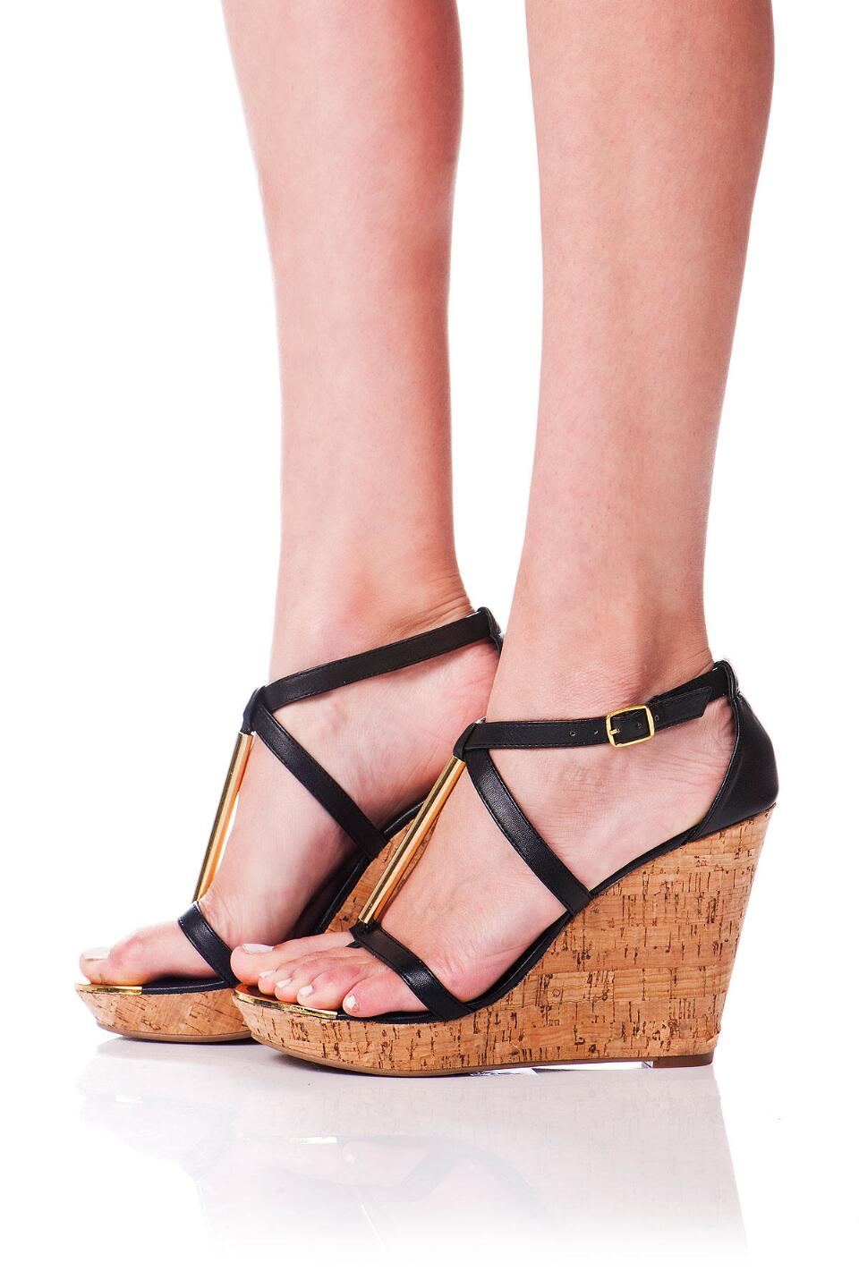 DV by Dolce Vita Shoes, Tremor Cork Wedge in Black-  blk-clmodel