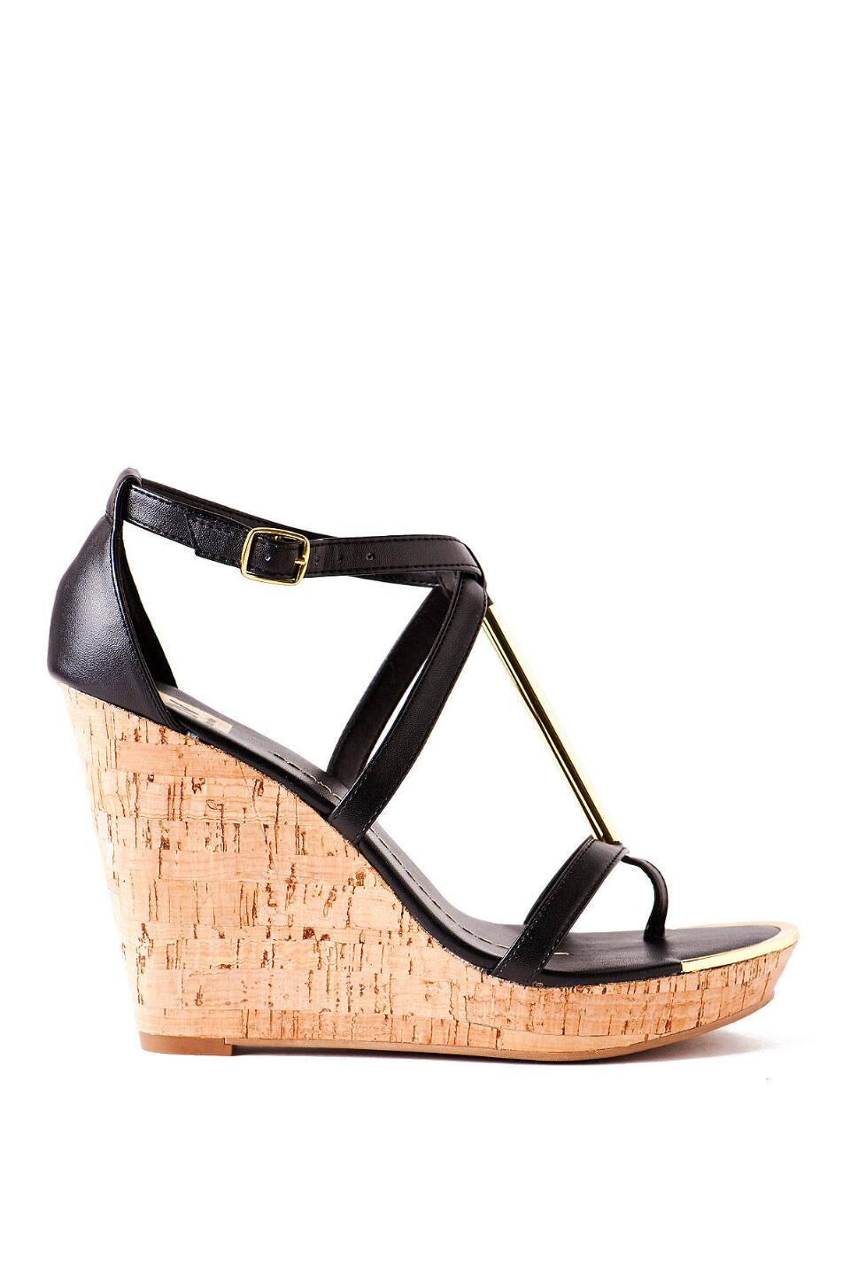 DV by Dolce Vita Shoes, Tremor Cork Wedge in Black-  blk-clright