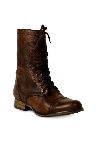 Steve Madden Shoes, Troopa Combat Boot in Brown