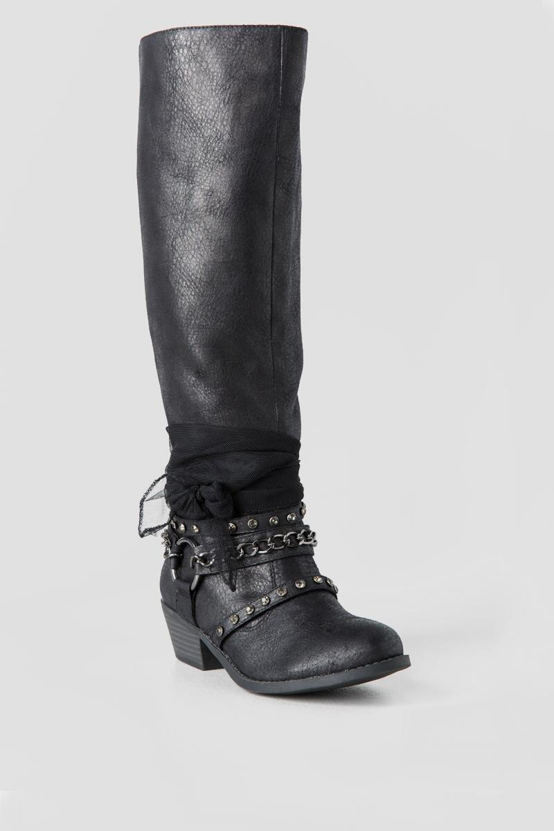 Tuscany Knee High Boot-  blk-cl