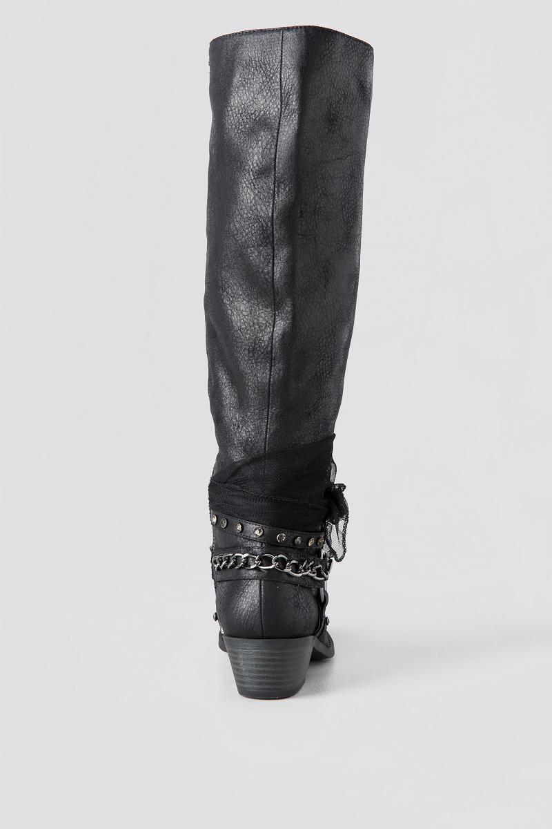 Tuscany Knee High Boot-  blk-clback