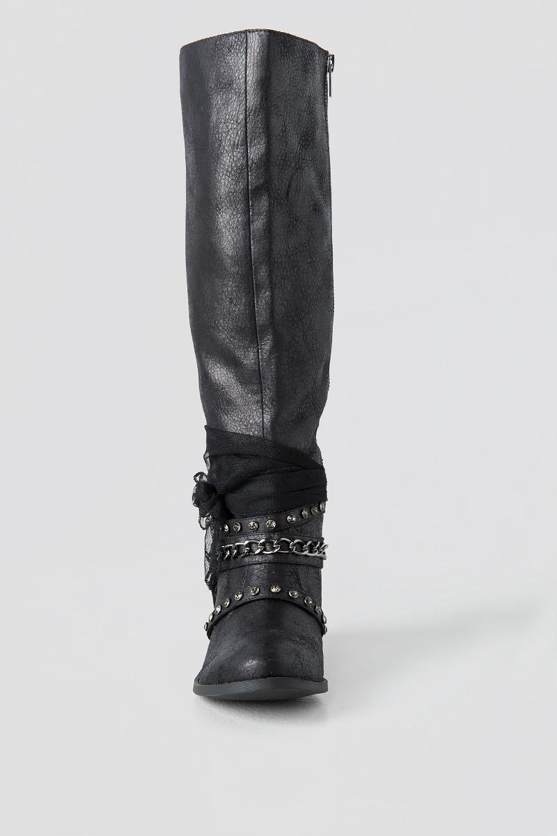 Tuscany Knee High Boot-  blk-clfront