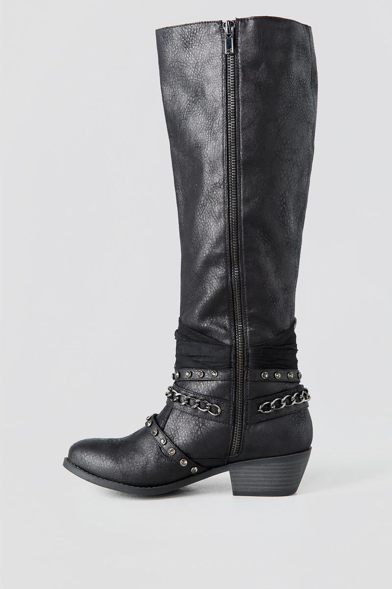 Tuscany Knee High Boot-  blk-clleft