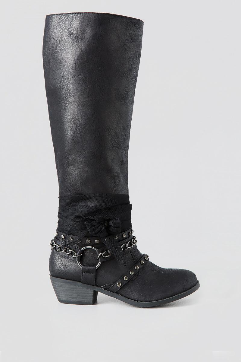 Tuscany Knee High Boot-  blk-clright