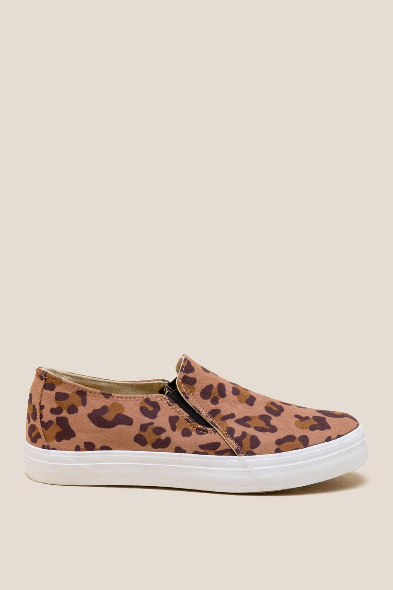 Restricted Vanity Leopard Slip On Sneaker-  leop-clright