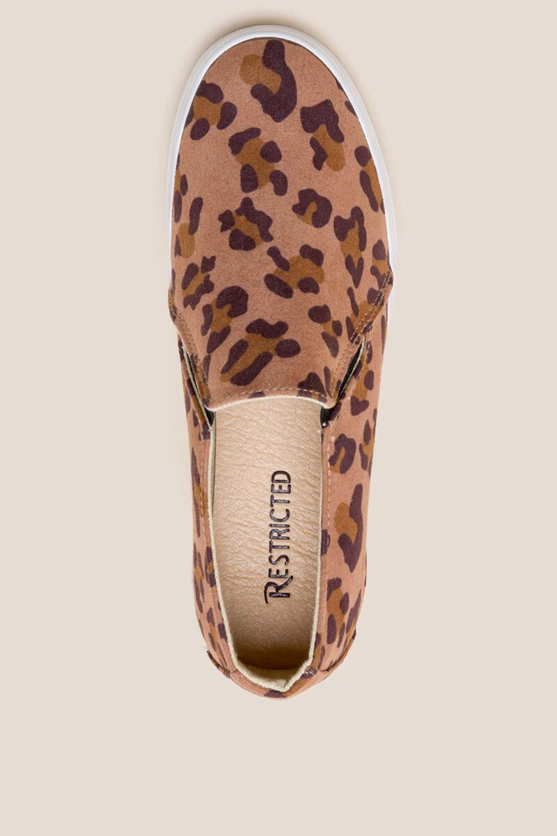 Restricted Vanity Leopard Slip On Sneaker-  leop-cltop
