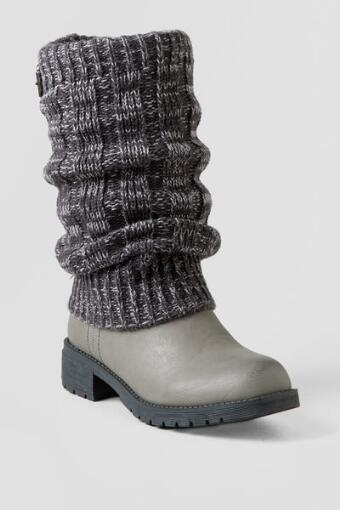 Shayla Ruched Sweater Cuff Boot