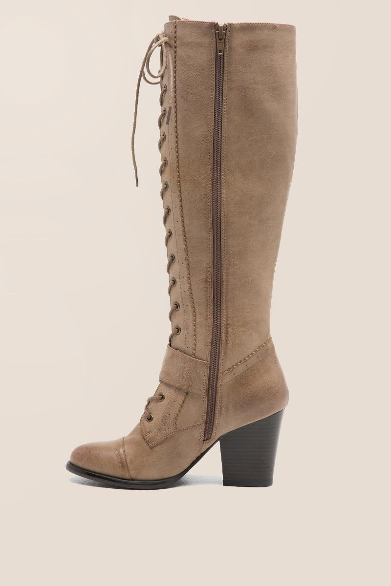 CL by Laundry - With It Lace-Up Buckle Boot-  taup-clleft