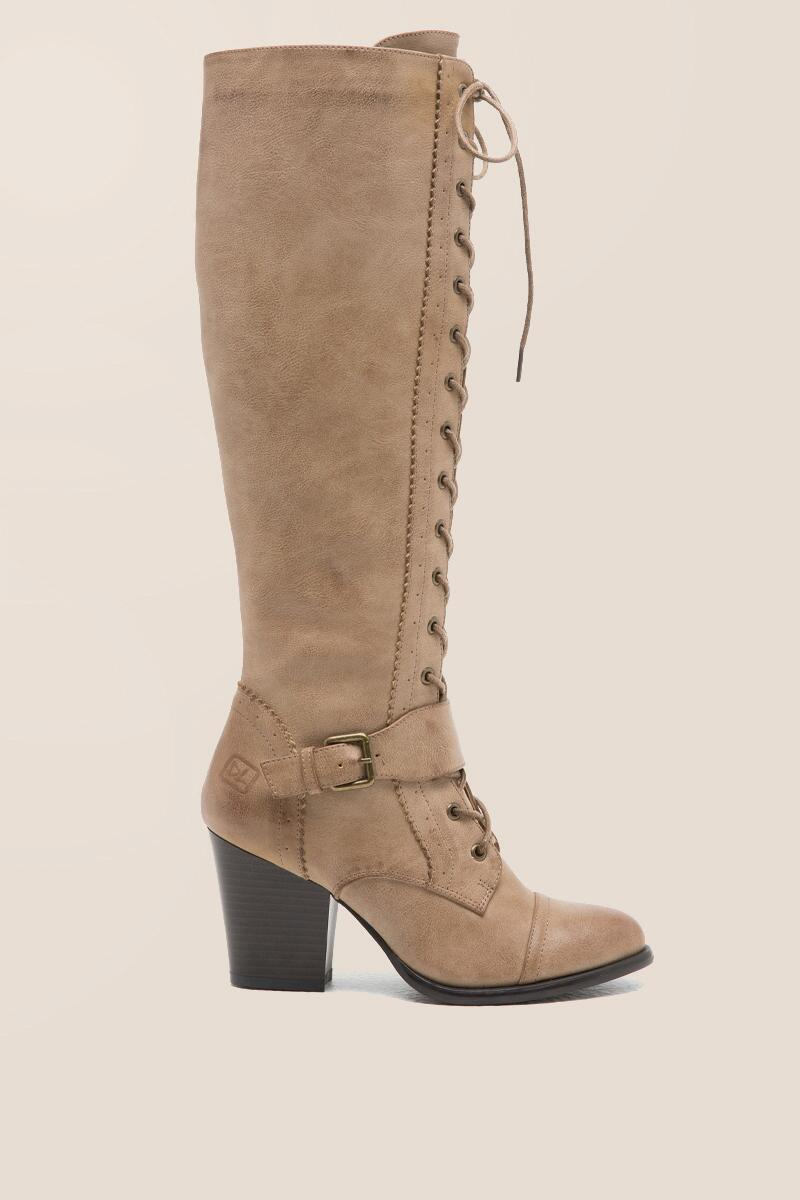 CL by Laundry - With It Lace-Up Buckle Boot-  taup-clright