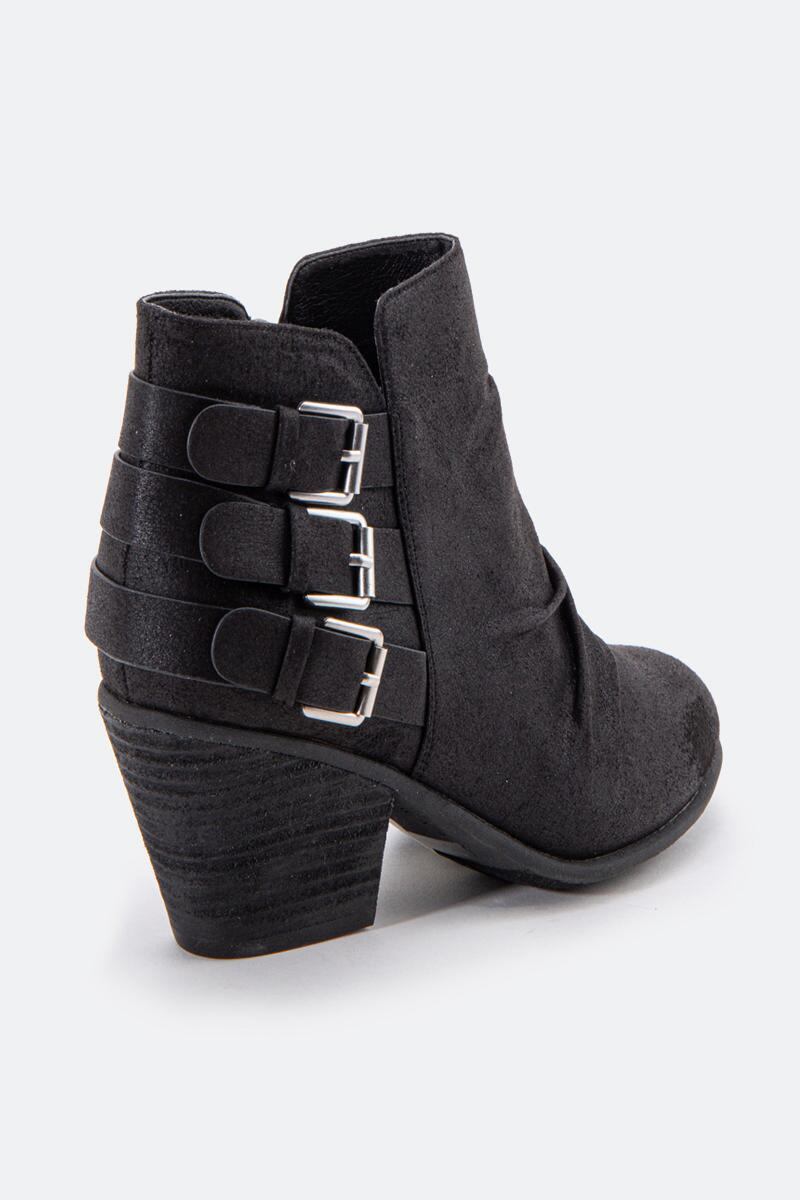 Report Yora Buckle Ankle Boot-  blk-cl2