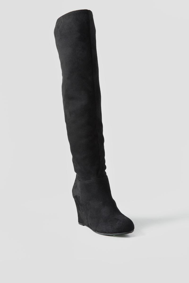 Chinese Laundry, Unforgettable Wedge Over the Knee Boot-  blk-cl