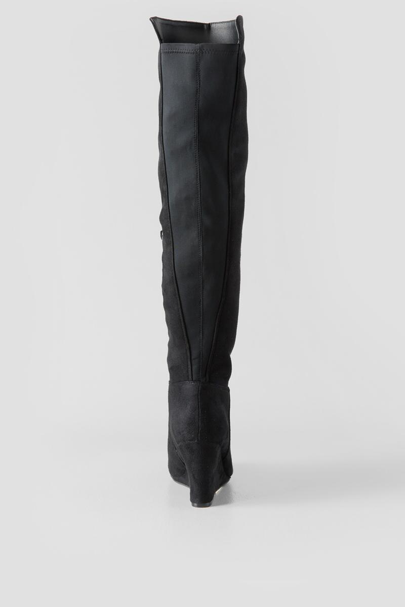 Chinese Laundry, Unforgettable Wedge Over the Knee Boot-  blk-clback