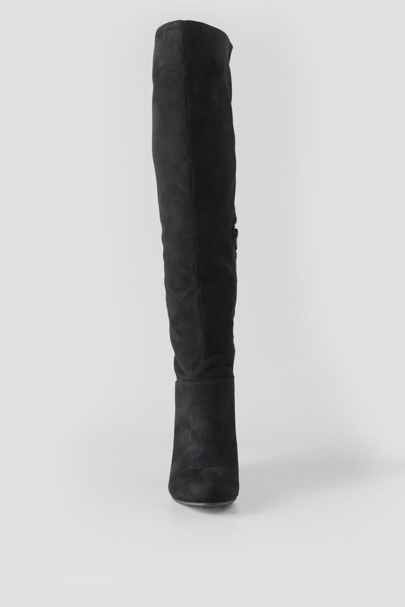 Chinese Laundry, Unforgettable Wedge Over the Knee Boot-  blk-clfront