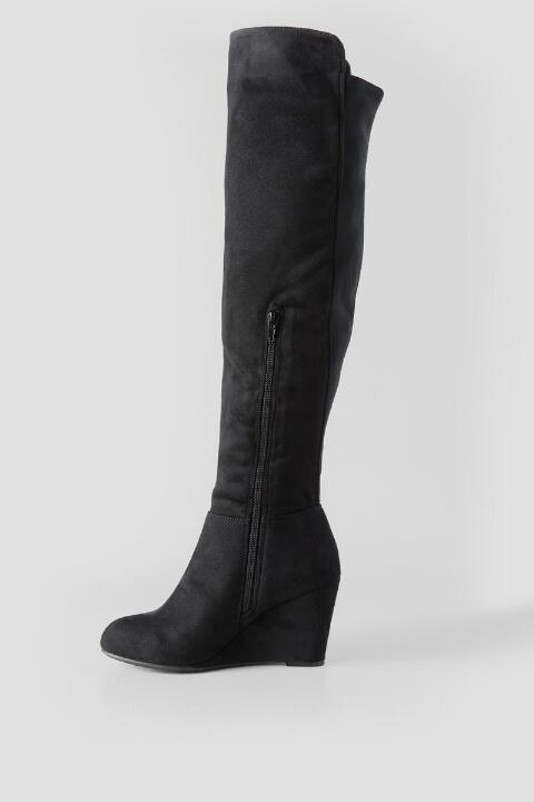 Chinese Laundry, Black Unforgettable Wedge Over the Knee Boot ...