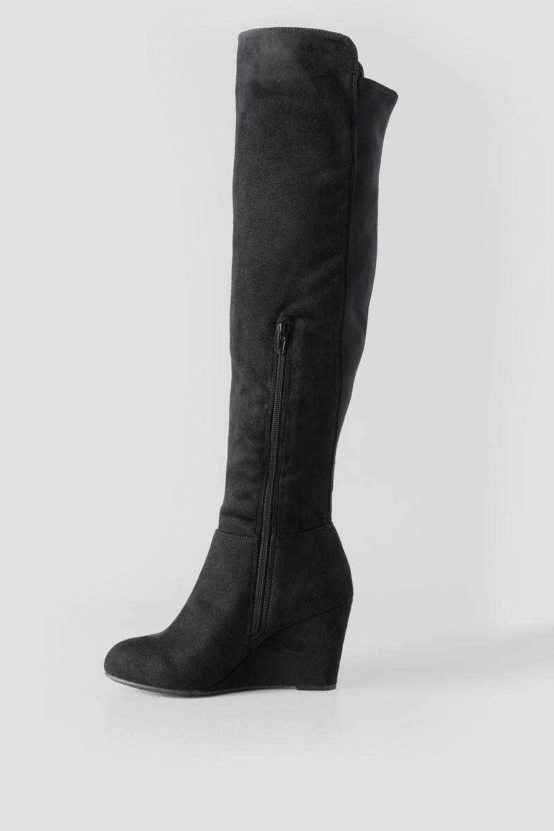 Chinese Laundry, Unforgettable Wedge Over the Knee Boot-  blk-clleft
