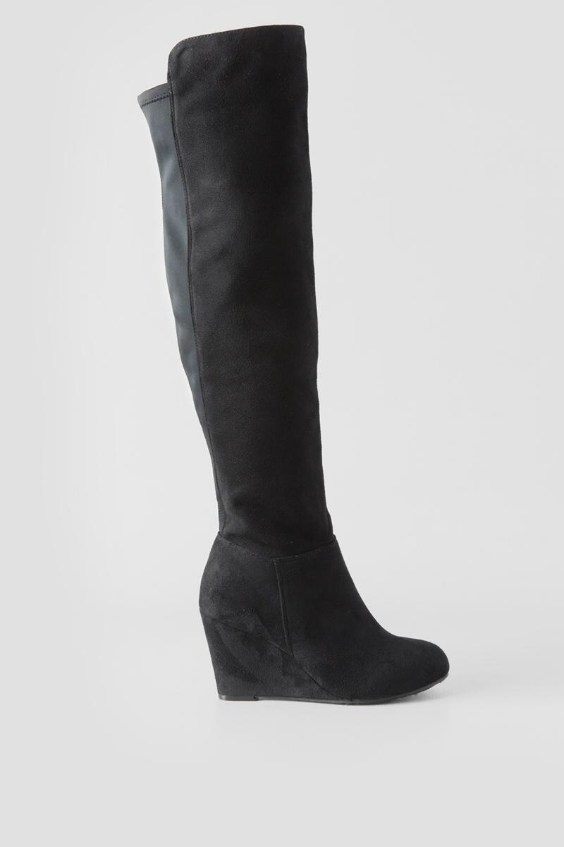 Chinese Laundry, Unforgettable Wedge Over the Knee Boot-  blk-clright