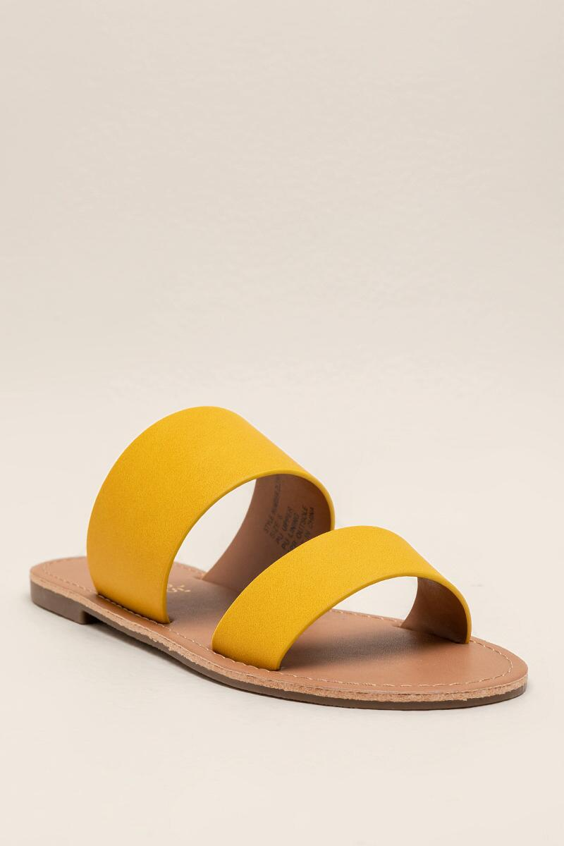 Brandi Two Band Slide-Yellow