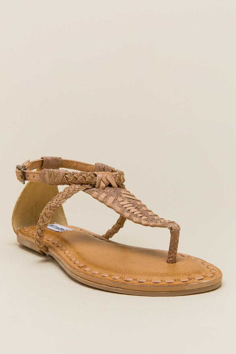 Not Rated Zolin Braided T-Strap Sandal-  nude-cl