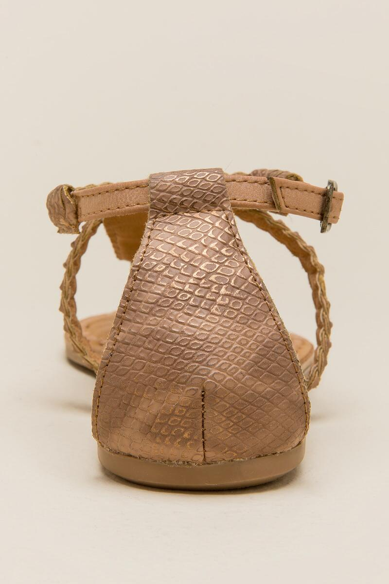 Not Rated Zolin Braided T-Strap Sandal-  nude-clback
