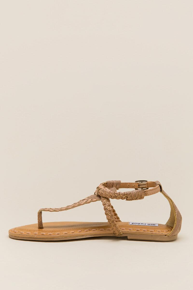 Not Rated Zolin Braided T-Strap Sandal-  nude-clleft