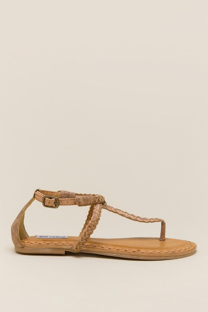 Not Rated Zolin Braided T-Strap Sandal-  nude-clright