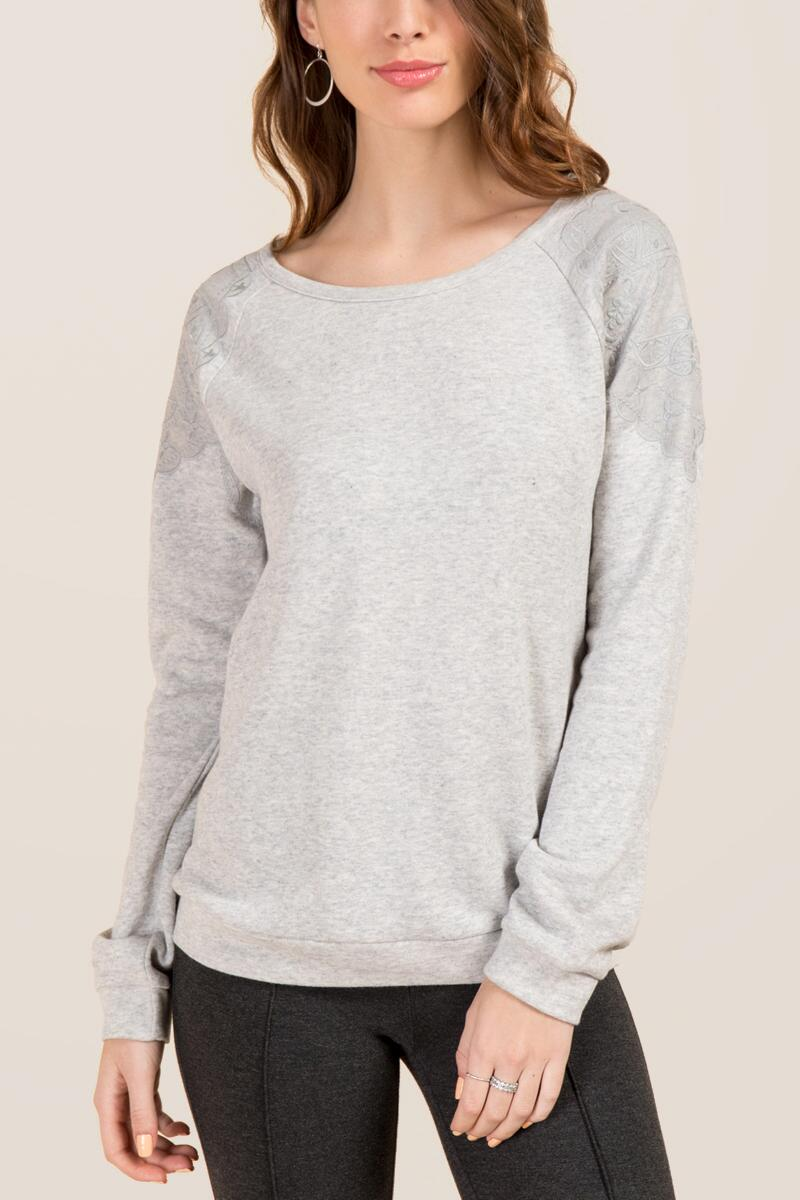 Capella Embroidered Shoulder Sweatshirt