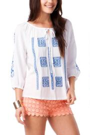 Nikaia Embroidered Top