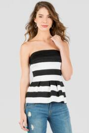 Cecina Bandaged Peplum Top