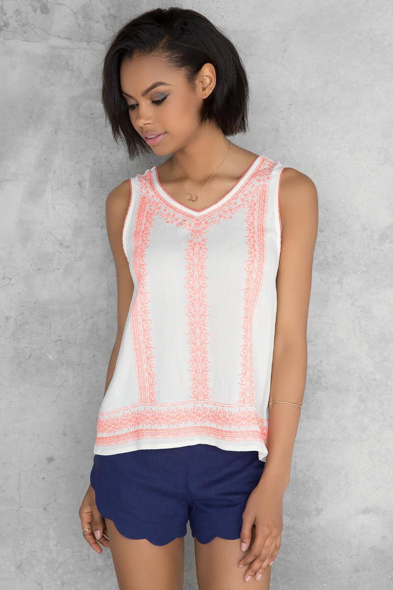 Tasha Embroidered Tank