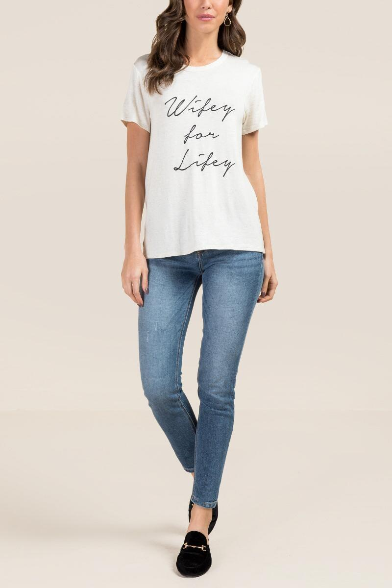 132ec2e6d Wifey For Lifey Graphic Tee- hthot-clmodel