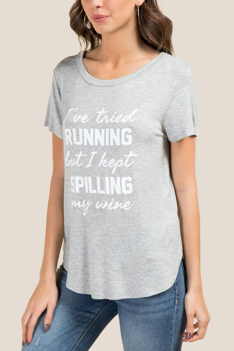 Running Spilling Wine Graphic Tee