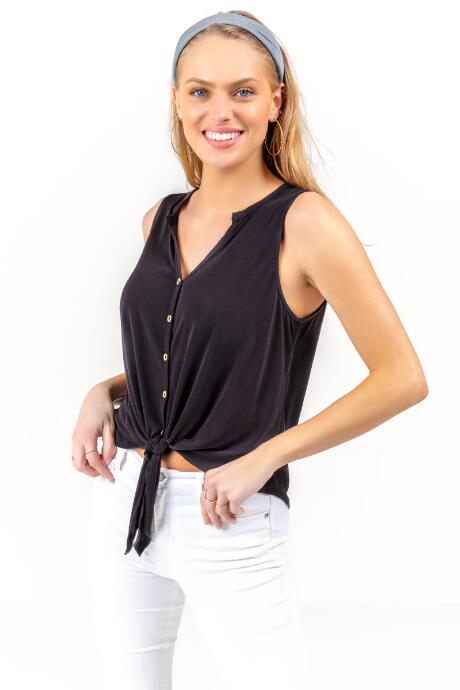 Madison Button Front Tank Top