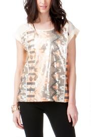 Jun & Ivy All-over Sequin Top