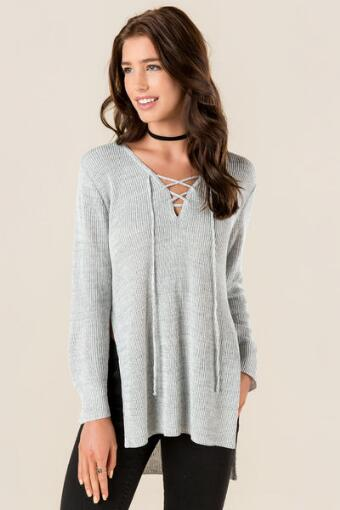 Abner Lace Up Sweater
