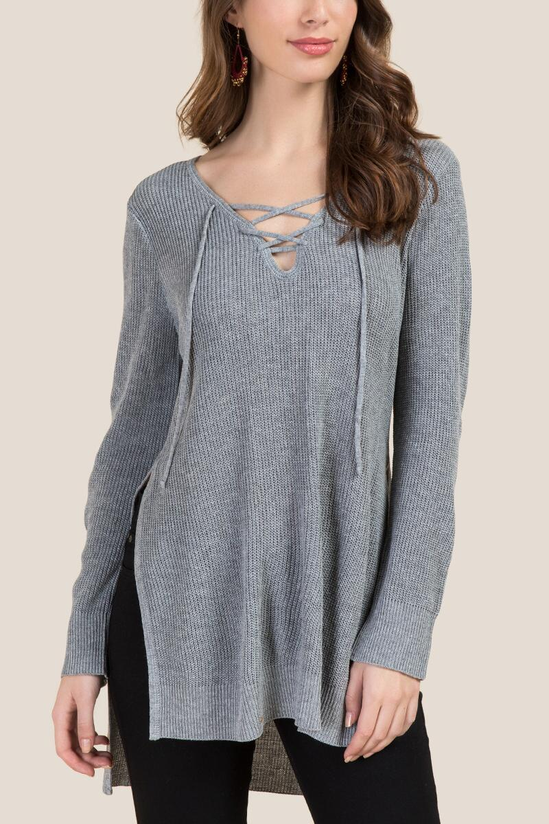 Abner Lace-Up Sweater