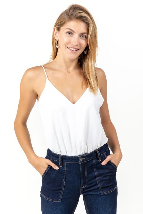 Marlee Sleeveless V Neck Bodysuit