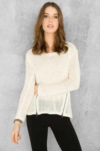 Donna Zipper Sweater