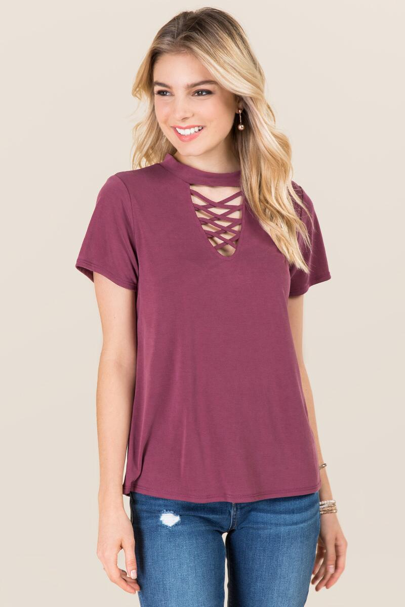 Dawn Lattice Gigi Cupro Tee-  burg-cl