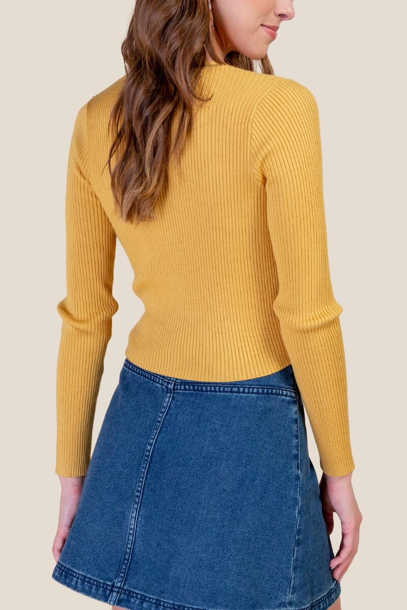Autumn Cropped Cardigan- Sunshine 2