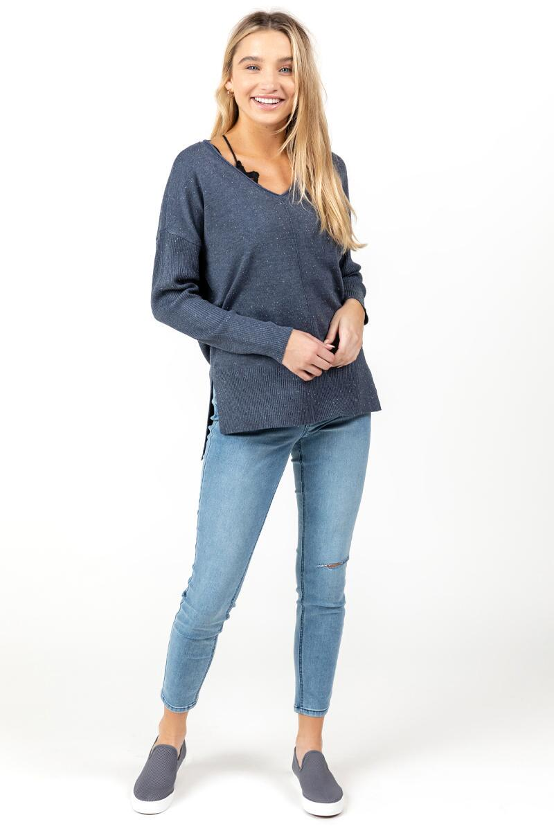 Autumn Fine Gauge Sweater-Navy 2