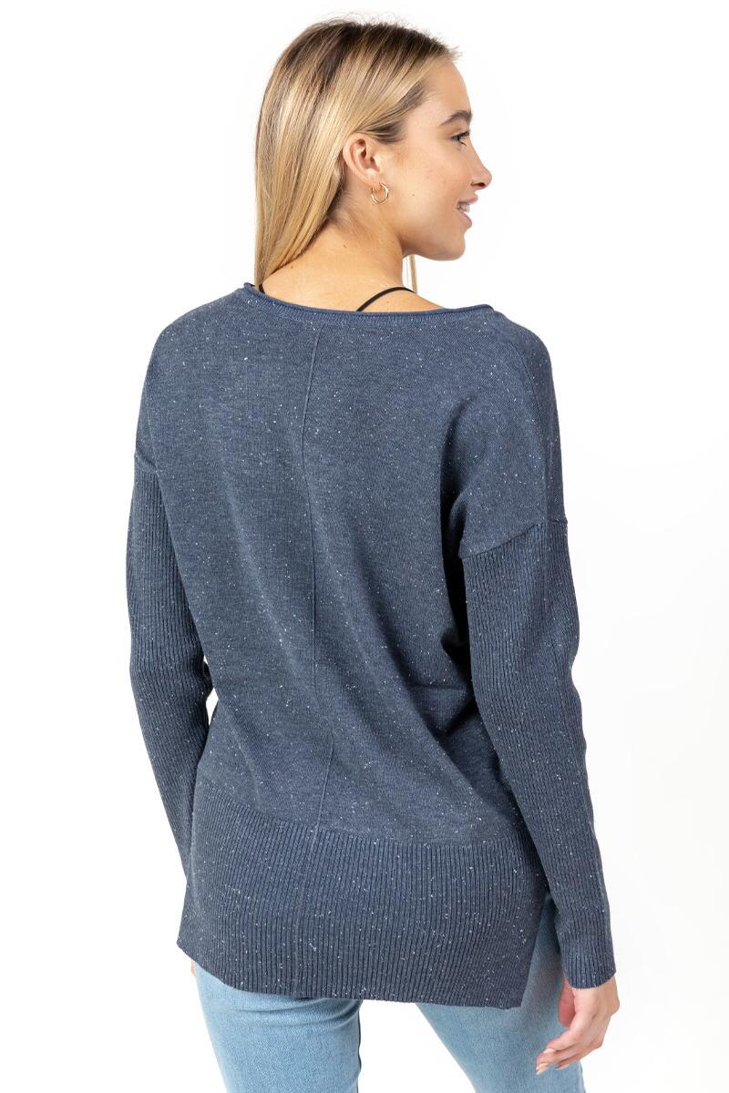 Autumn Fine Gauge Sweater-Navy 4