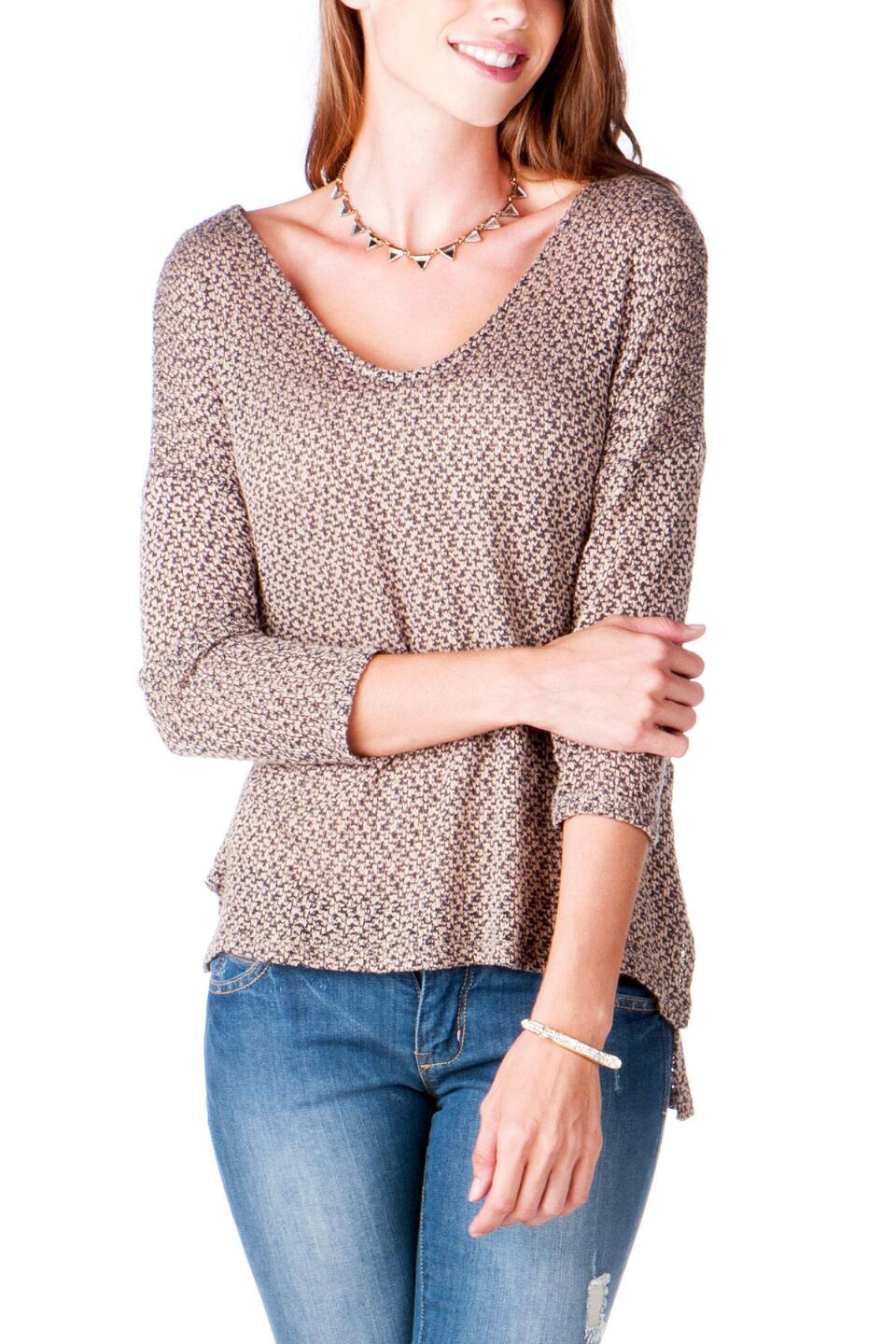 Stillwater Scoopneck Sweater-  brwn-cl