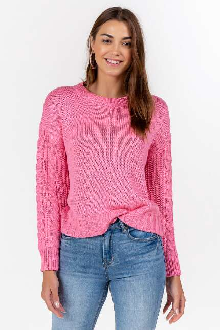 Reena Cable Sleeve Sweater