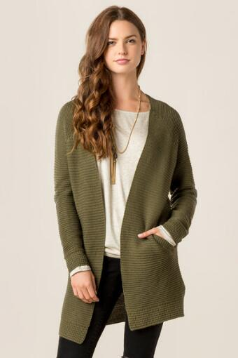 Spencer Ribbed Sweater Wrap